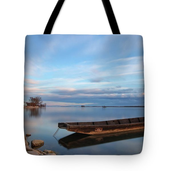 On The Shore Of The Lake Tote Bag