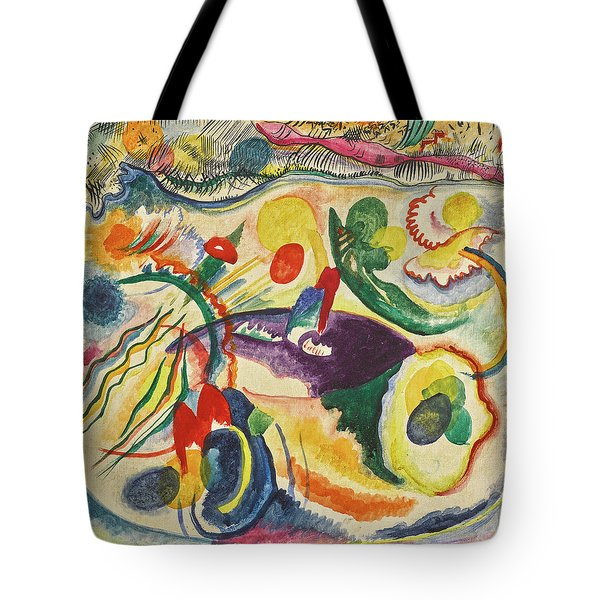 On The Theme Of The Last Judgment - Zum Thema Jungstes Gericht Tote Bag