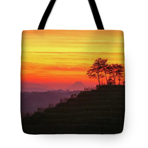 Tote Bag featuring the photograph On The Viewpoint by Davor Zerjav