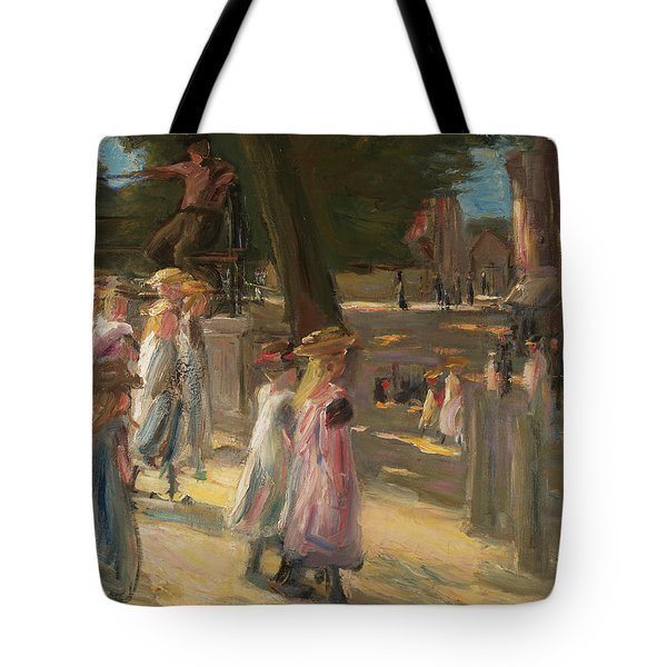 On The Way To School In Edam Tote Bag