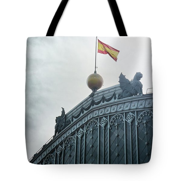 On Top Of The Puerta De Atocha Railway Station Tote Bag