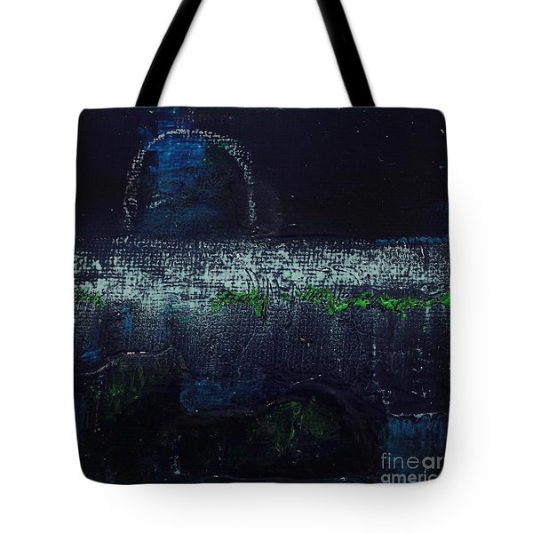 Tote Bag featuring the painting Once In A Blue Moon by Kim Nelson