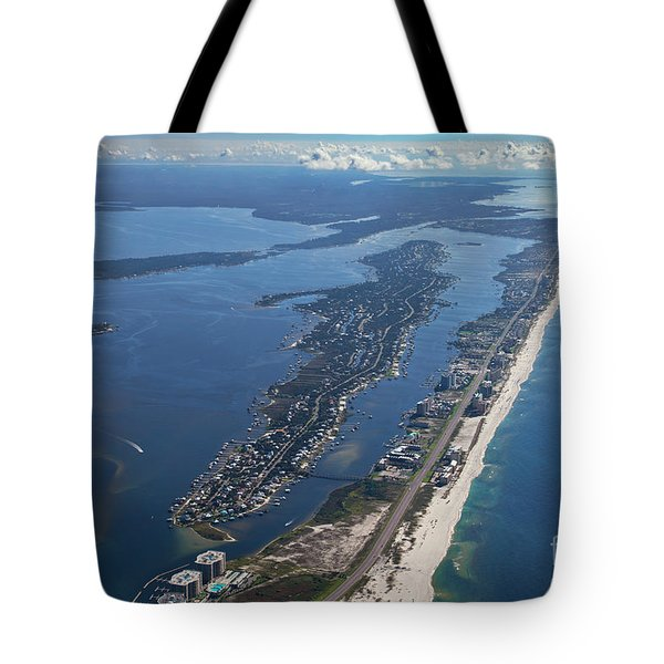 Tote Bag featuring the photograph Ono Island-5326 by Gulf Coast Aerials -