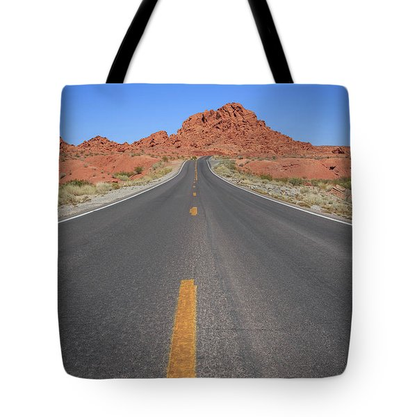 Open Road Valley Of Fire Tote Bag