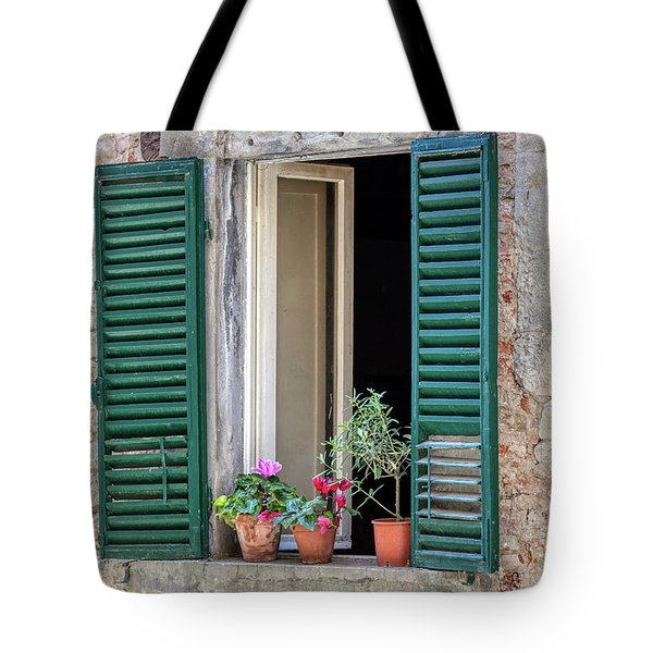 Open Window Of Tuscany Tote Bag