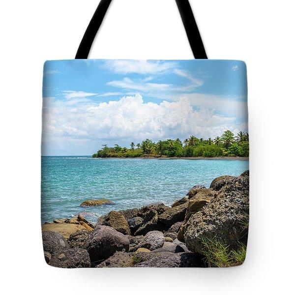 Orange Bay In Portland Jamaica Tote Bag
