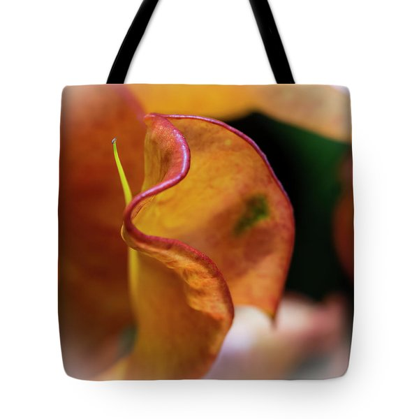 Orange Croton Tote Bag