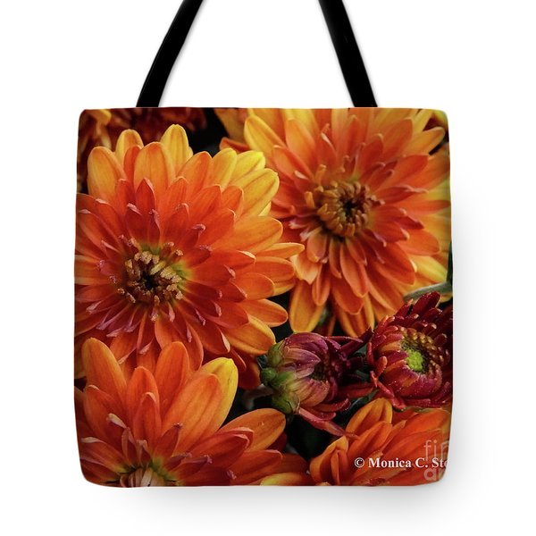 Orange Flowers No. 14 Tote Bag