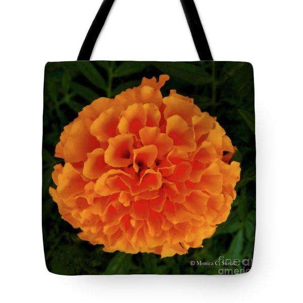 Orange Flowers No. O15 Tote Bag