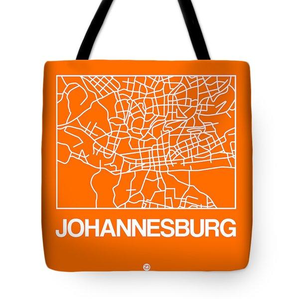 Orange Map Of Johannesburg Tote Bag