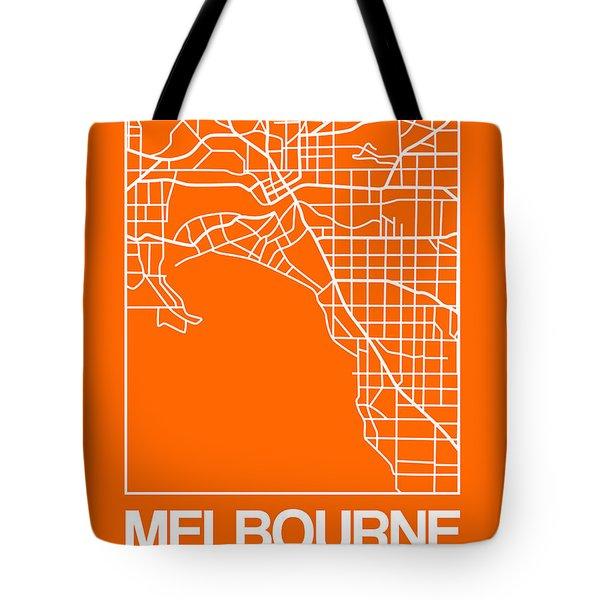 Orange Map Of Melbourne Tote Bag