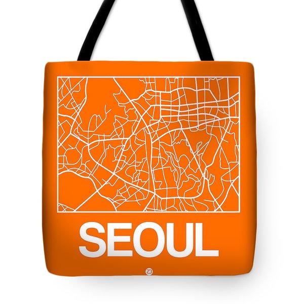 Orange Map Of Sao Paulo Tote Bag
