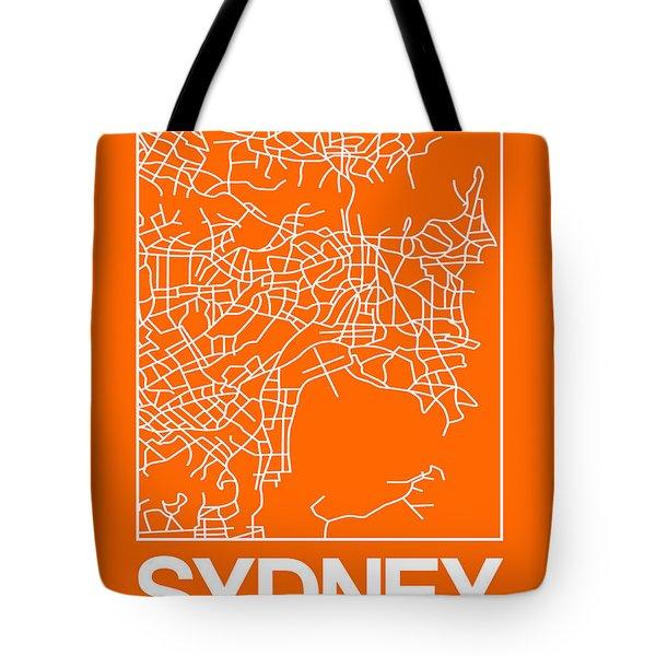 Orange Map Of Sydney Tote Bag