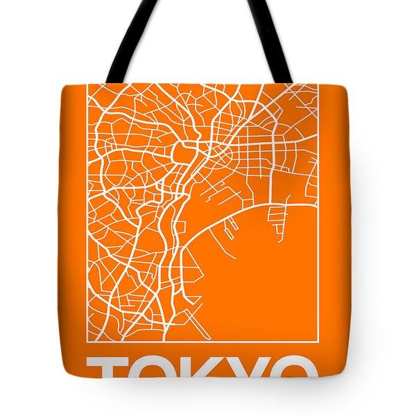 Orange Map Of Tokyo Tote Bag