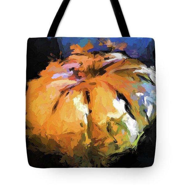 Orange Pumpkin Tote Bag