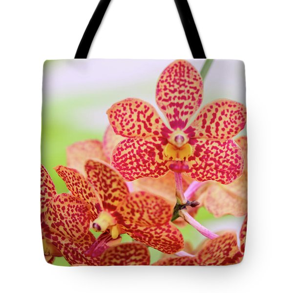 Orange Spotted Orchids Tote Bag