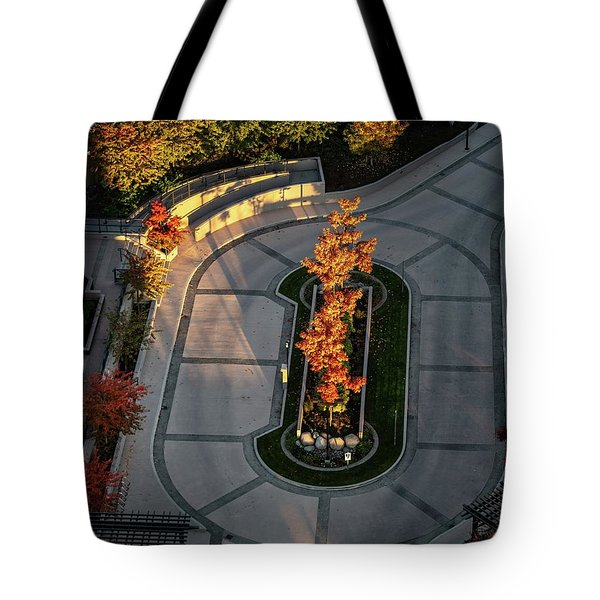 Orange Trees In Autumn Tote Bag