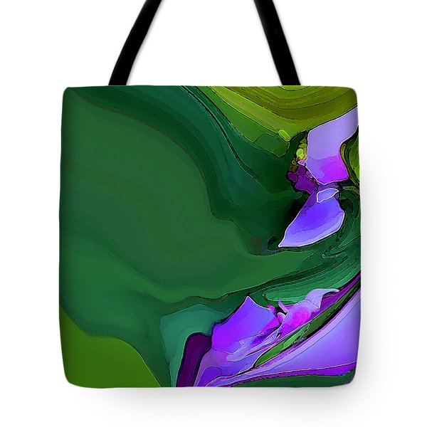Tote Bag featuring the digital art Orchids And Emeralds by Gina Harrison
