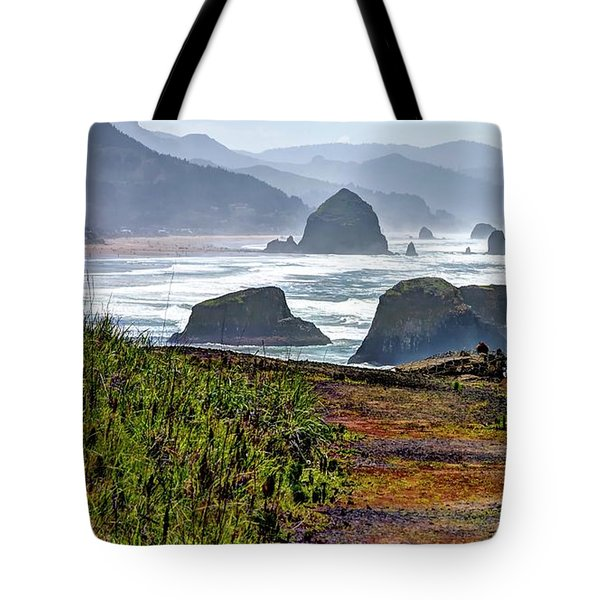 Tote Bag featuring the photograph Oregon Coast Formations by Jerry Sodorff