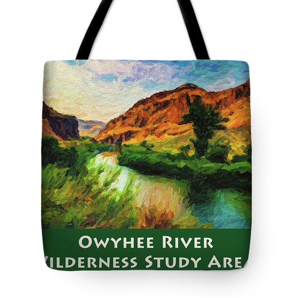 Owyhee River Wsa Tote Bag