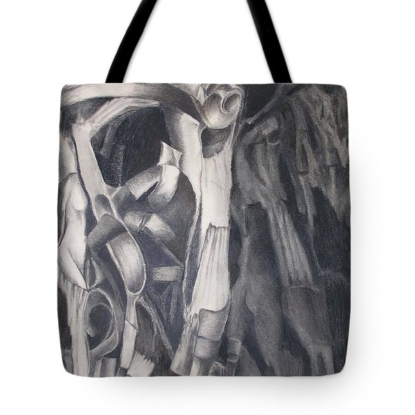 Tote Bag featuring the drawing Organic Jungle by Rosanne Licciardi