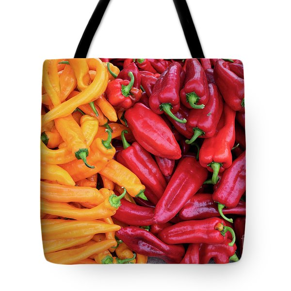 Tote Bag featuring the photograph Organic Peppers by Tim Gainey