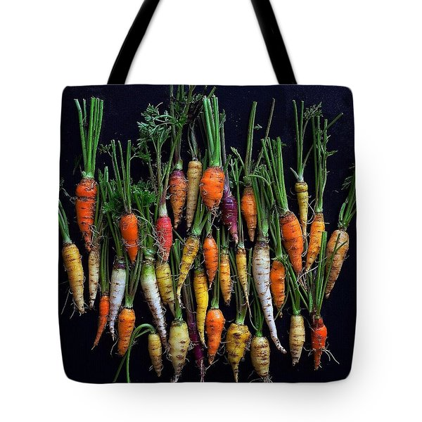 Organic Rainbow Carrots Tote Bag