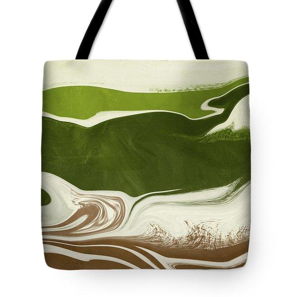 Organic Wave 2- Art By Linda Woods Tote Bag
