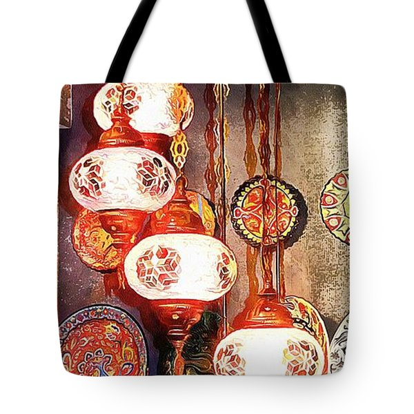 Tote Bag featuring the photograph Oriental Lamp by Dorothy Berry-Lound