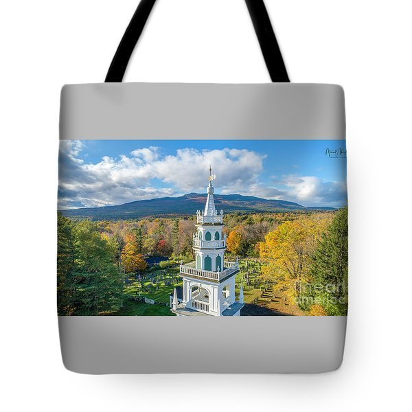 Tote Bag featuring the photograph Original Meeting House Jaffrey Nh by Michael Hughes