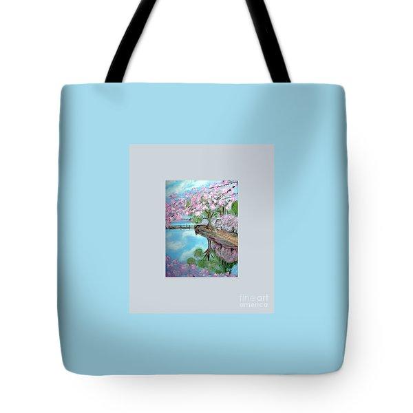 Original Painting. Joy Of Spring. Tote Bag