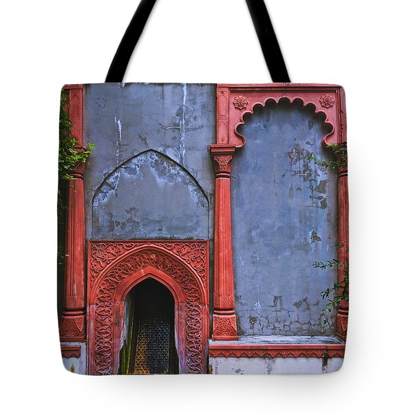 Ornate Red Wall Tote Bag
