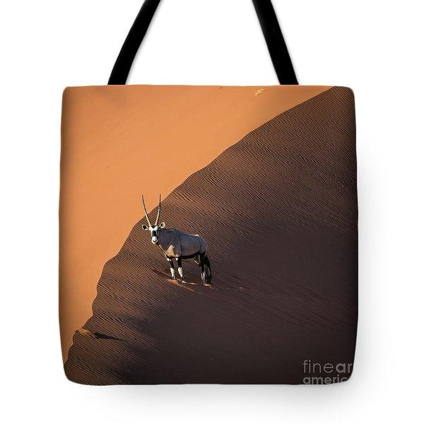 Oryx On The Edge, Namibia Tote Bag