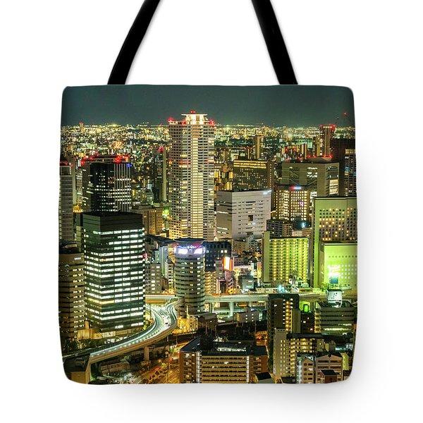 Osaka Skyline, Japan Tote Bag
