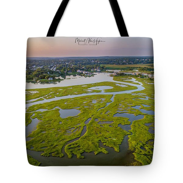 Tote Bag featuring the photograph Other Side Winnipaug  by Michael Hughes