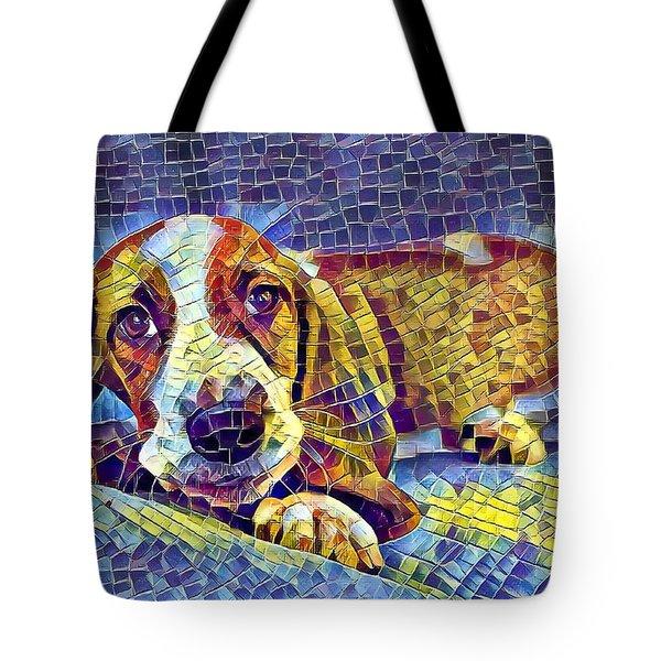 Otis The Potus Basset Hound Dog Art  Tote Bag