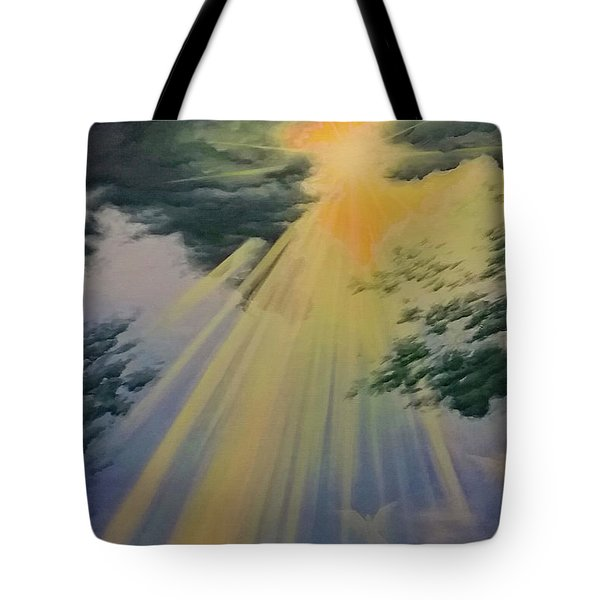 Out Of Darkness His Light Shall Shine Tote Bag