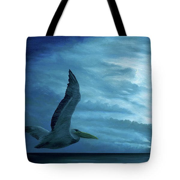 Tote Bag featuring the painting Out Of The Blue by Kevin Daly
