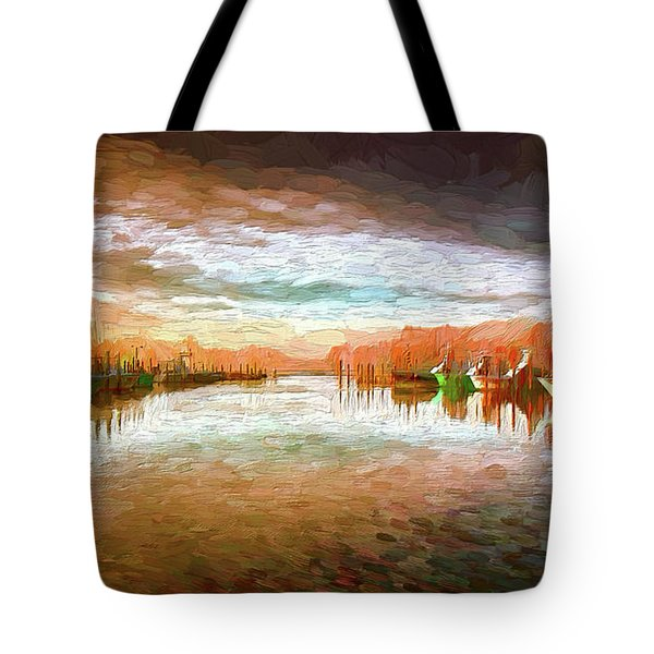 Outer Banks Fishing Boats At Oregon Inlet Ap Tote Bag