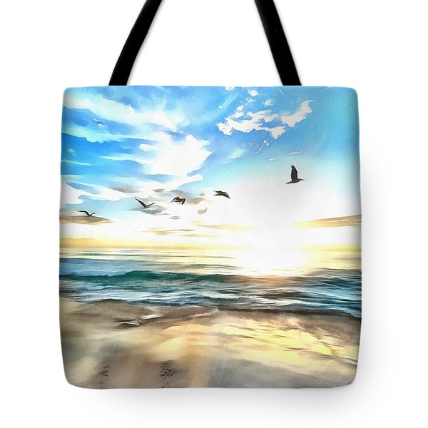 Tote Bag featuring the painting Outer Banks by Harry Warrick