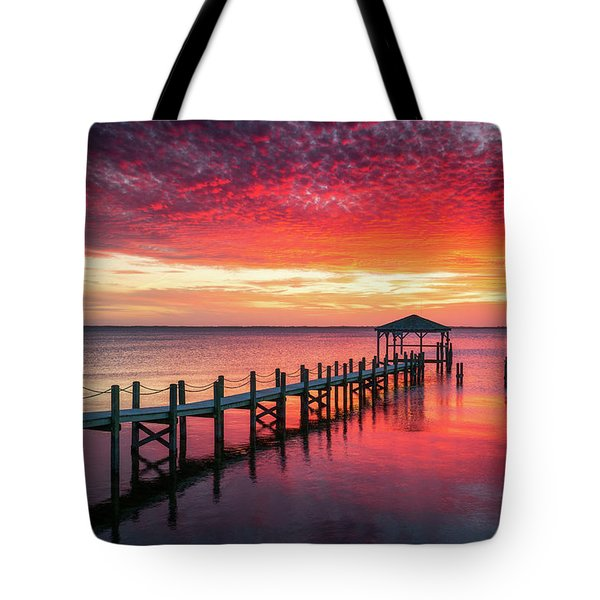 Outer Banks North Carolina Sunset Seascape Photography Duck Nc Tote Bag