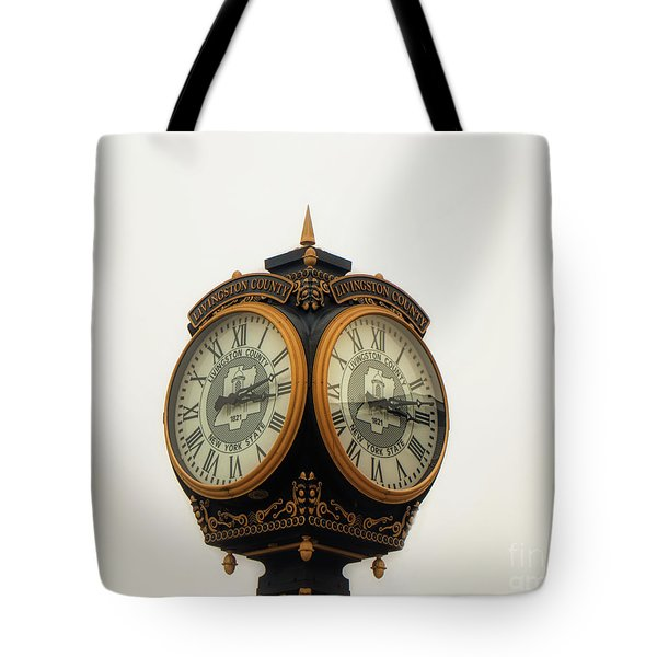 Outside Timepiece Tote Bag