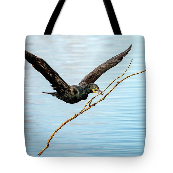 Over-achieving Cormorant Tote Bag