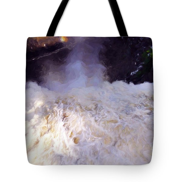 Over The Edge At Montmorency Falls Tote Bag