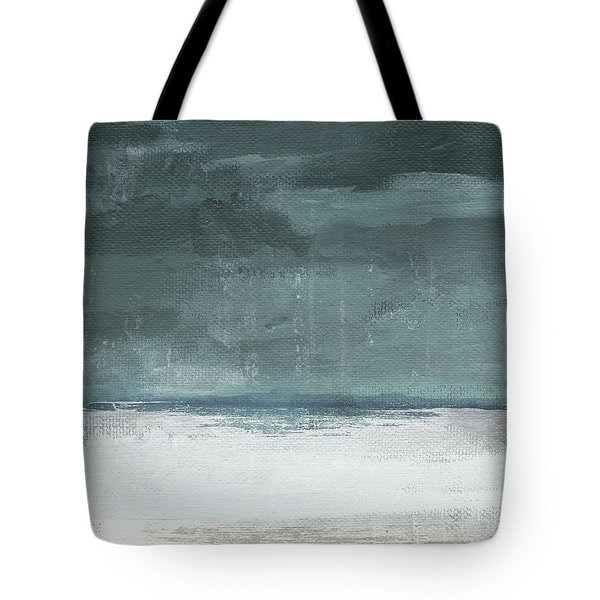 Tote Bag featuring the mixed media Overcast 2- Art By Linda Woods by Linda Woods