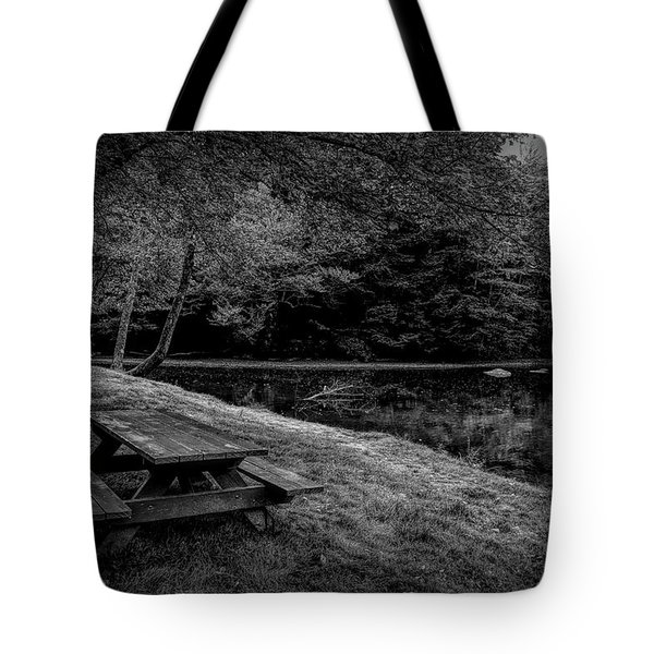 Overlooking The Sugar River Tote Bag