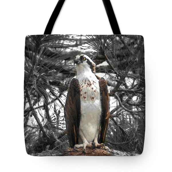 Tote Bag featuring the photograph Overseer by Sally Sperry
