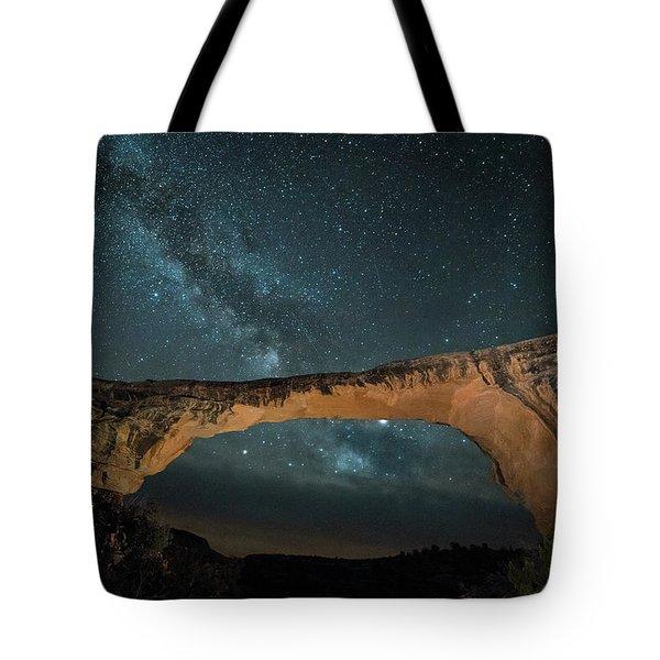 Owachomo Natural Bridge And Milky Way Tote Bag