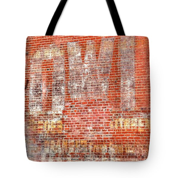 Tote Bag featuring the photograph Owl Ghost Sign by Jerry Sodorff