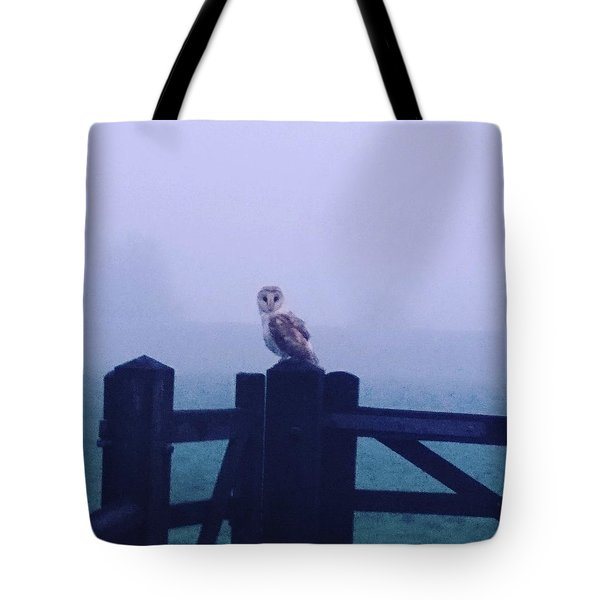 Owl In The Mist Tote Bag